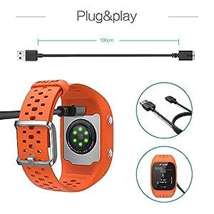 TUSITA Cargador para Polar M430 - USB Cable De Carga 100cm - GPS Relojes Accesorios