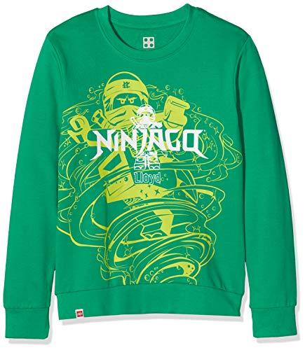 LEGO Jungen cm Ninjago Sweatshirt, Grün (Green 869), (Herstellergröße: 140)