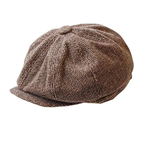 Widmann 09842 - 20er Jahre Mütze, Einheitsgröße für Erwachsene, braun, Ballonmütze, Hut, Kappe, Karneval, Mottoparty