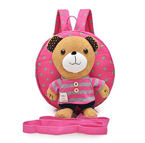 JMAHM Baby Rucksack Cartoon Bär Abnehmbarer Rucksack Anti-verlorene Rucksack für Kinder 1-3 Jahre