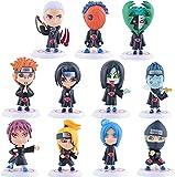 Figura de Naruto Juego de 11 piezas Figuras de acción Modelo de personaje de juego de anime 8 cm Pvc personaje de dibujos animados de anime Escultura Juguete Colección de decoración de oficina en casa