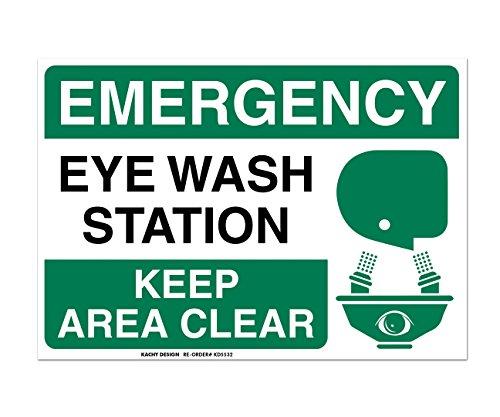 (Set of 2) Emergency Eye Wash Station Sign - 10