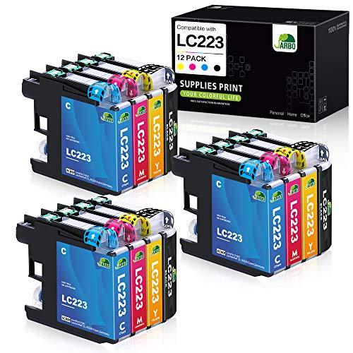JARBO 12er Pack Ersatz für Brother LC223XL LC223 XL LC-223 XL Druckerpatronen kompatibel zu Brother MFC-J5320DW MFC-J5620DW MFC-J5720DW DCP-J562DW DCP-J4120DW MFC-J4420DW J480DW