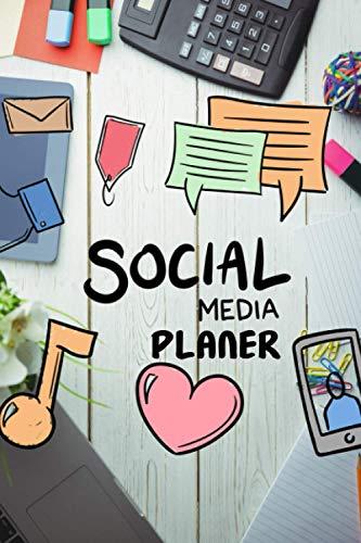 Notizbuch: Social Media Planer | Schreibtisch | Plane deinen Posts, Inhalte & Auftritte | Zielgruppenanalyse | Budgetplaner | Aufgabentracker | ... Instagram | Pinterest | Twitter | Influencer