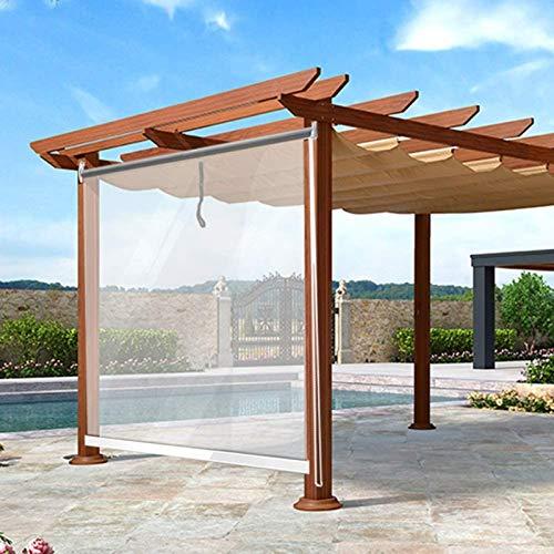 HYDT Store en bambou Pavillon Pergola Clear Rollos - Wasserdicht Staubdicht Regenschutz Isoliert, PVC Transparente Rollläden, Size : 90×100cm(35.4 in×39.3 in)