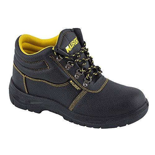 Maurer 15013425–Stivali di sicurezza in pelle nera Maurer S-3N. 43