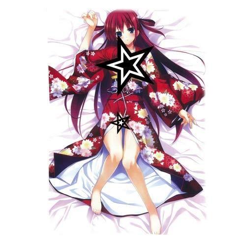 Anime Grisaia no Kajitsu -LE Fruit DE LA GRISAIA- Throw Pillow Cover Custom Zippered Rectangle Pillow Case (GKW-16, 16x24 inch)