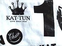 """KAT-TUN 10TH ANNIVERSARY LIVE TOUR """"10Ks!"""" 会場限定 公式グッズ バスタオル 白"""