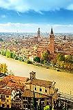 Verona Italia Canal Sky Rivers Casas CitiesAdult Puzzle niños 1000 Piezas Juego de Rompecabezas de Madera Regalo decoración del hogar Recuerdo de Viaje Especial