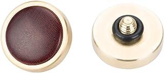 VKO 木製手作りソフトシャッターボタンFUJIFILMなど用 X-T30 X-T20 X-T3 X-T2 X100F X100T X100S X-PRO2 XPRO-1 X30 X-E2 X-E2S M6 M7 M8 M9 M10などカメラ 赤色,12mm凸面 (1個)(木目ランダム)