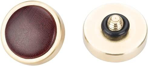 VKO Hand-Made Soft Shutter Release Button Compatible for Fujifilm X-T30 X-T3 X100F X-T20 X-PRO2 X30 X100T X100S M10 M9 M6 Camera 12mm Convex Red Wooden Brass 1 PCS(Wood Grain Random)