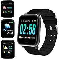 GoldUpUSAInc Waterproof Fitness Tracker Smartwatch with Heart Rate Monitor