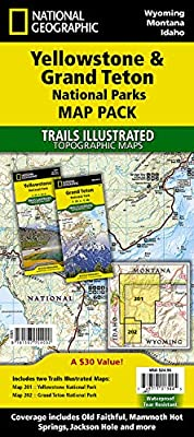 Yellowstone and Grand Teton National Parks [Map Pack Bundle] (National Geographic Trails Illustrated Map) from Natl Geographic Society Maps