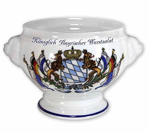Königlich Bayrischer Wurstsalat Porzellanschüssel 1,00 Liter Füllvermögen