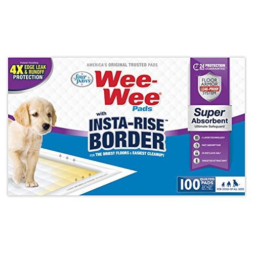 Four Paws Wee-Wee Puppy Training Insta-Rise Border Pee Pads 100-Count 22