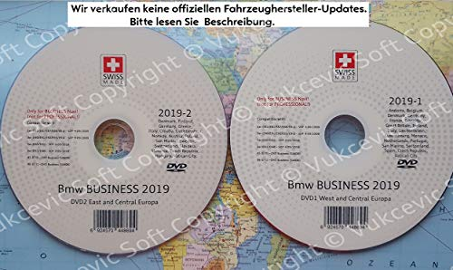 B M W Business Navigation DVD1 + DVD2 2019 SA606 CCC