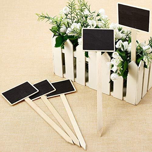 MZY1188 Mini Pizarra de 10 Piezas, marcadores de Flores duraderos, Carteles creativos de Pizarra, Etiquetas de Flores y Plantas de jardín, Decoraciones de la casa