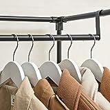 SONGMICS Kleiderschrank, Garderobenschrank mit Gitterablagen aus Eisen, Stoffschrank mit Tür und Kleiderstangen, Aufbewahrungsschrank, Vliesstoff, fürs Schlafzimmer, schwarz RYM34BK - 7