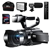 Video Camera 4K Camcorder 48MP Vlogging Camera WiFi YouTube Camera with Auto Focus IR Night Vision 3' Touch Screen 30X Digital Zoom Camera Recorder