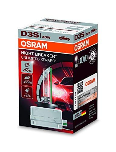 Osram XENARC NIGHT BREAKER UNLIMITED D3S HID Xenon-Brenner, Entladungslampe, 66340XNB, Faltschachtel (1 Stück)