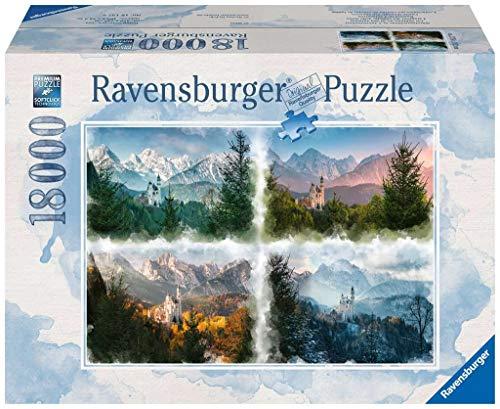 Ravensburger Puzzle 16137 - Märchenschloss in 4 Jahreszeiten - 18000 Teile Puzzle für Erwachsene und Kinder ab 14 Jahren, Riesenpuzzle mit großer Teilezahl