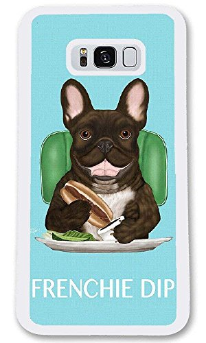 Personalize Samsung Galaxy S8 Cases - French Bulldog Hard Plastic Phone Cell Case for Samsung Galaxy S8
