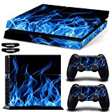 Ps4 Stickers Full Body Vinyl Skin Decal Cover for Playstation 4 Console Controllers (with 4pcs Led Lightbar Stickers)