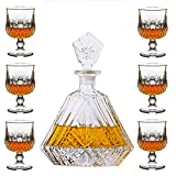 SuDeLLong Whiskygläser und Dekanter-Set, Whiskey-Dekantiergläser, Set mit 6 Highball-Gläsern für...