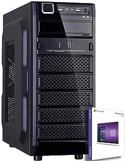 PC DESKTOP COMPUTER FISSO CON LICENZA WINDOWS 10 pro Talloncino con seriale INTEL QUAD CORE RAM 8GB DDR4 HD1TB DVD/WIFI/HD...