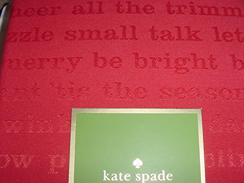 Kate Spade All the Trimmings Cranberry Red Tablecloth, 60-by-102 Inch Oblong Rectangular