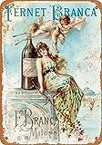 1889 Fernet-Branca Liqueur 2 - Cartel de metal con aspecto vintage, 20 x 30 cm