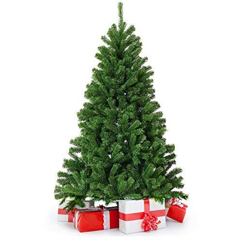 DOUBLEBLUE Künstlicher Weihnachtsbaum, künstlicher Weihnachtsgrünbaum 180 cm, PVC-Weihnachtsbaum (ca. 800 Spitzen), mit Stabiler Metallhalterung, Weihnachtsdekoration im Innen- und Außenbereich