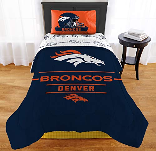 "Northwest NFL Broncos ""Monument"" Twin XL Comforter Set #157945799"