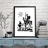 Danjiao Todo Lo Que Puedes Imagen Es Real Picasso Lienzo Impresiones Artísticas Dibujo Famoso Don Quijote Pintura Cuadros De Pared Decoración De Sala De Estar Sala De Estar Decor 60x90cm