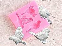 鳥シリコーン型フォンダンモールドケーキデコレーションツールキャンディー粘土チョコレート Gumpaste 金型樹脂粘土石鹸金型