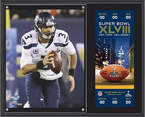 Russell Wilson Seattle Seahawks Super Bowl XLVIII Champions 12