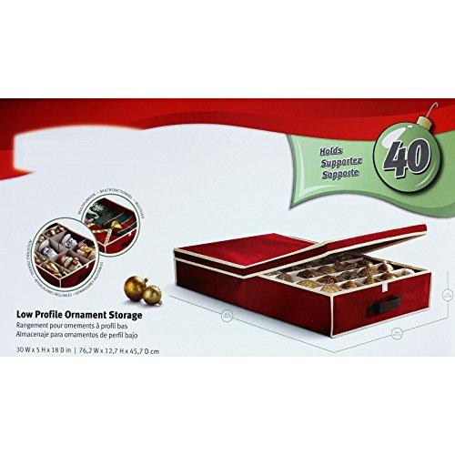 SSITG opbergdoos voor 40 kerstballen kerstballen ca. 76 x 45 x 12 cm