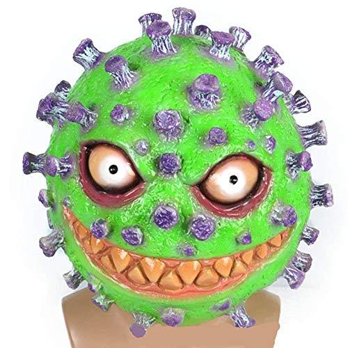 YDXH 2020 Máscara de Látex Coronavirus Sombrero de Halloween Juego Puntales