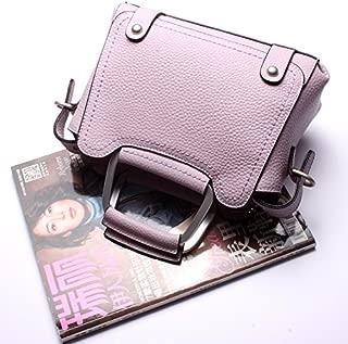 Leather 2018 New Women's Handbag Leather Handbag Leather Shoulder Wallet Handbag Wallet Waterproof (Color : Pink, Size : M)