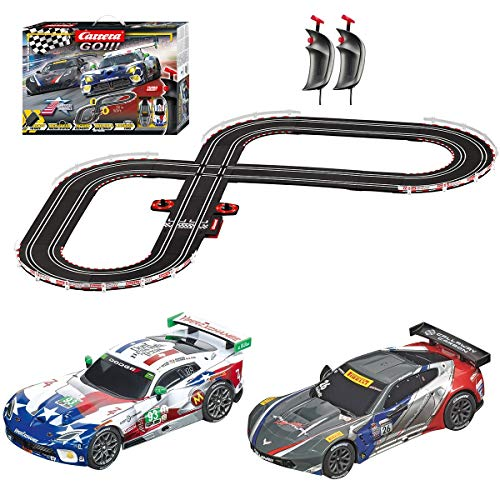 Carrera GO!!! 62521 onto The Podium Electric Powered Slot Car Racing Kids Toy Race Track Set Includes 2 Hand Controllers and 2 Cars in 1:43 Scale