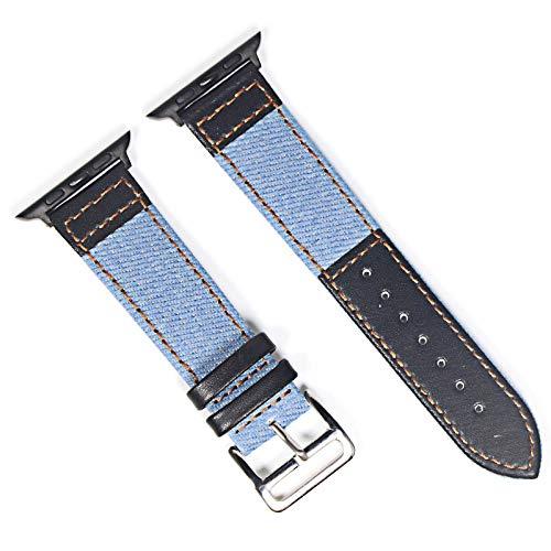 LITOSM Correa Reloj,Watch Straps Correa de Banda de Cuero marrón para Ver 4 3 2 1 38mm 40mm, Banda de Reloj de Cuero para Hombres para 5 44mm 42mm Pulsera