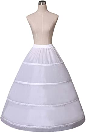 Women's 4-Hoop A-line Wedding Ball Gown Petticoat Underskirt Crinoline 9026