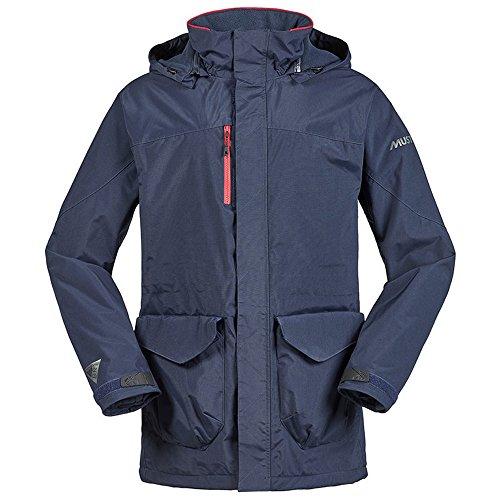 Musto Unisex Jacke Corsica BR1, lange Länge, für Erwachsene (L) (Marineblau/Rot)