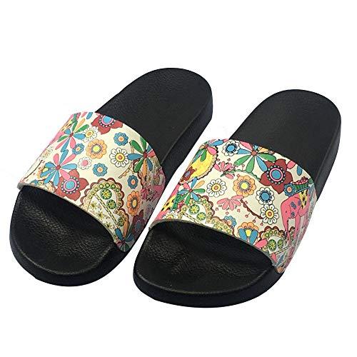 COQUI Mules Mujer,Summer Cork Versión Coreana británica de la Tendencia Inicio Zapatillas Populares Sticky Zapatos Playas de Arrastre Fresco-Flor de durazno_39