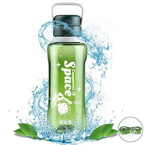 Bottiglia d'Acqua Sportiva 1,5 Litro Bottiglia da Palestra Riutilizzabile Uomini e Donne Borraccia per Corsa, Ciclismo, Scuola, Viaggi - Verde