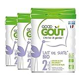 Good Gout - BIO - Lait de Suite 2eme age de 6 Mois a 12 Mois 800 g - Lot de 3