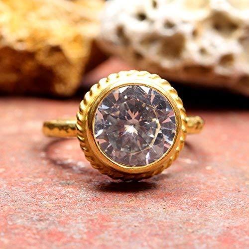 24K Gold Vermail 925K Sterling Silver Ring Handmade Polished Band Natural Free Shape Tourmaline Designer Ring Ancient Style Boho signet ring
