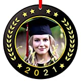 FaCraft Graduation Picture Frame Ornaments 2021,3' You Did It Graduation Photo Frame Ornaments,Class of 2021 Graduation Ornaments Gifts Christmas Keepsake for Girl Boy High School College Student