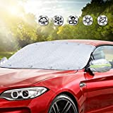 LESAUCE Car Magnetic Windshield Cover Sun Shade with 4 Layers Protection for...