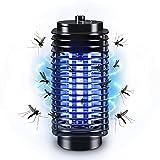 Mata Mosquitos Eléctrico Lámpara Antimosquitos Eléctrico, Lámpara Mata Insectos Matamoscas Electrico con Luz UV LED Matar Mosquitos, Moscas para Exterior y Interior